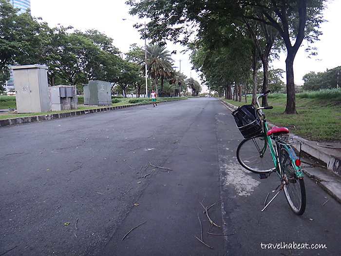 Filinvest has a safe biking area.