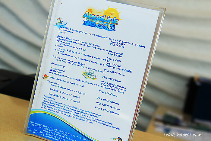 Water Activities Packages