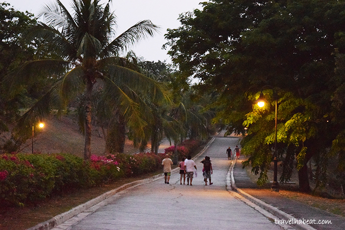 Club Punta Fuego's quiet village.