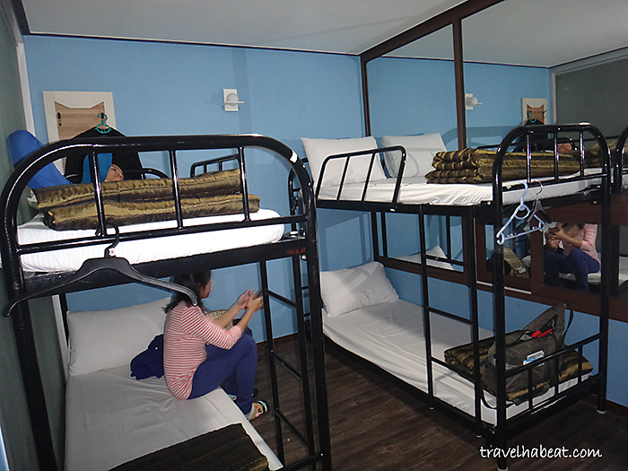 Our room with bunk beds.