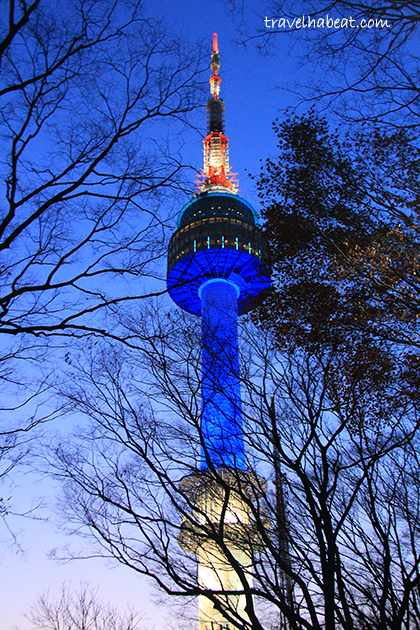 N Seoul Tower standing brightly at 236m.