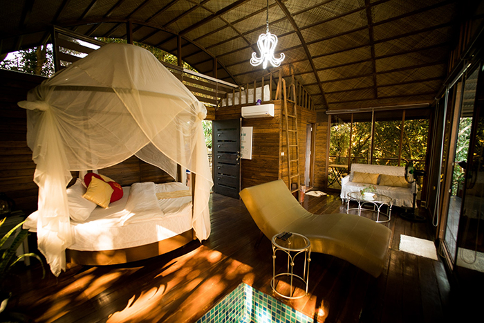 Inside Tree House with Jacuzzi