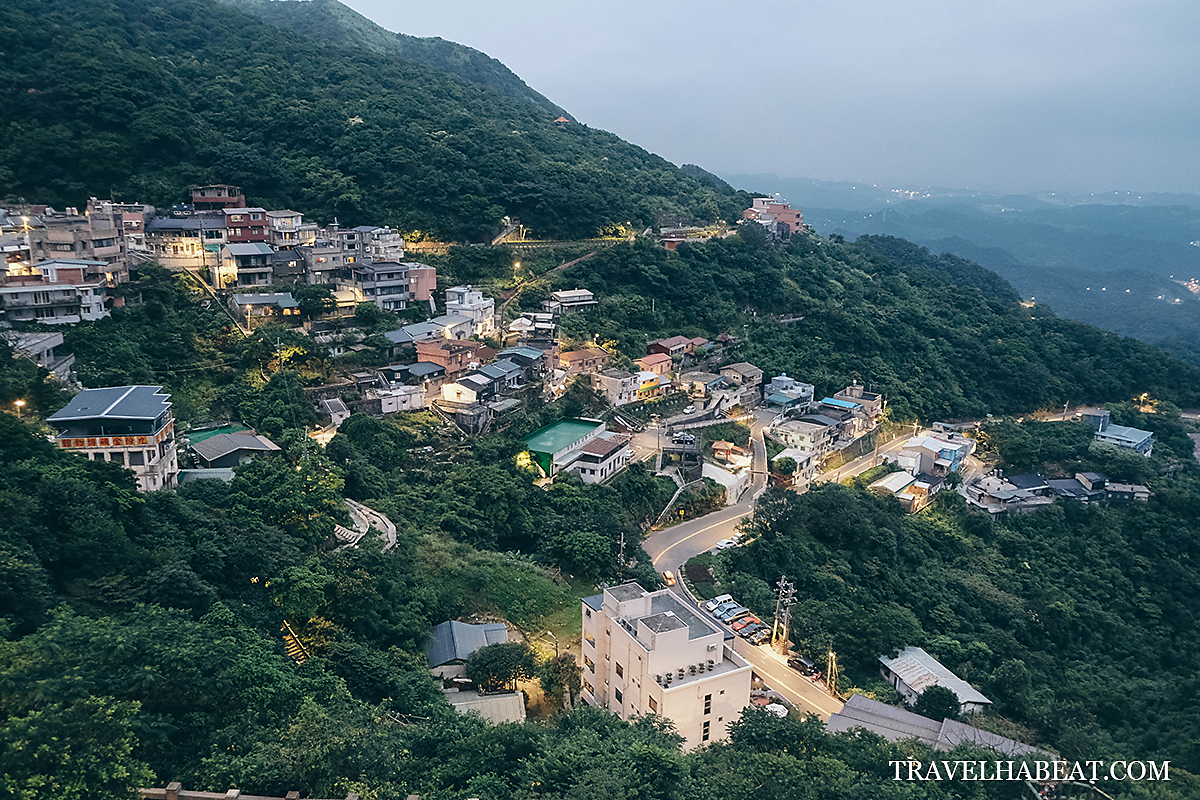 View from a vantage point in Jiufen.