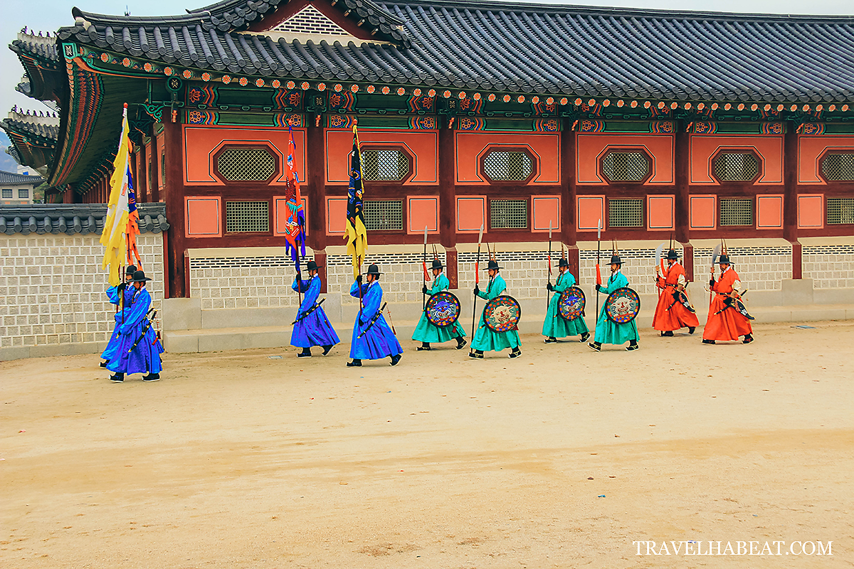 Royal Guard Changing Ceremony at Gyeongbukgung Palace