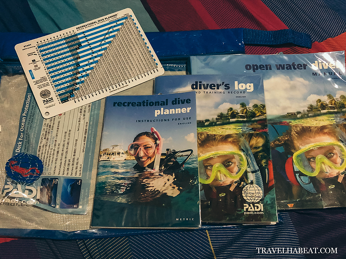 Dive manual, Diver's log, and Recreational Dive Planner (All inclusive in the course fee)