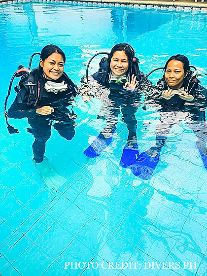 Confined Water Dives at Dive Buddies, Makati