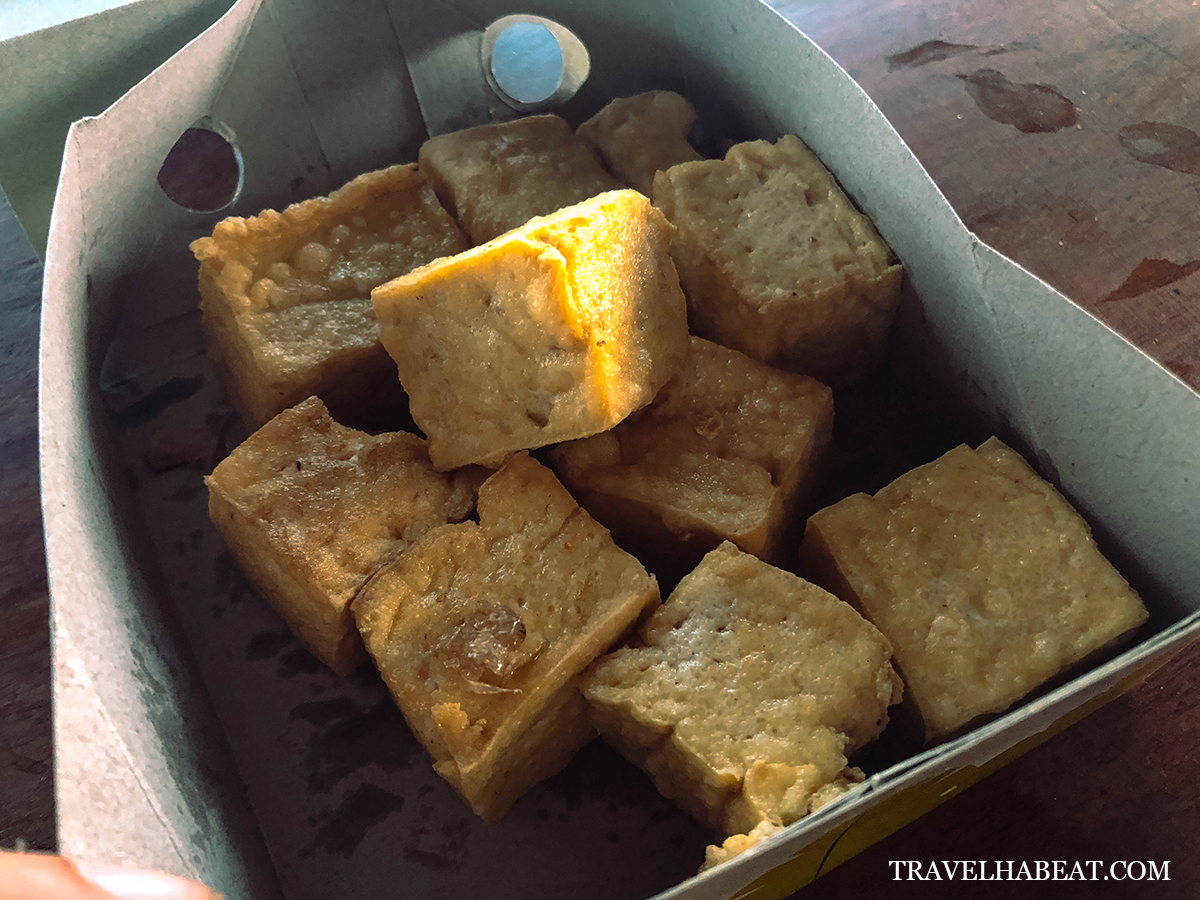 Tahu Susu or fried tofu made from cow's milk