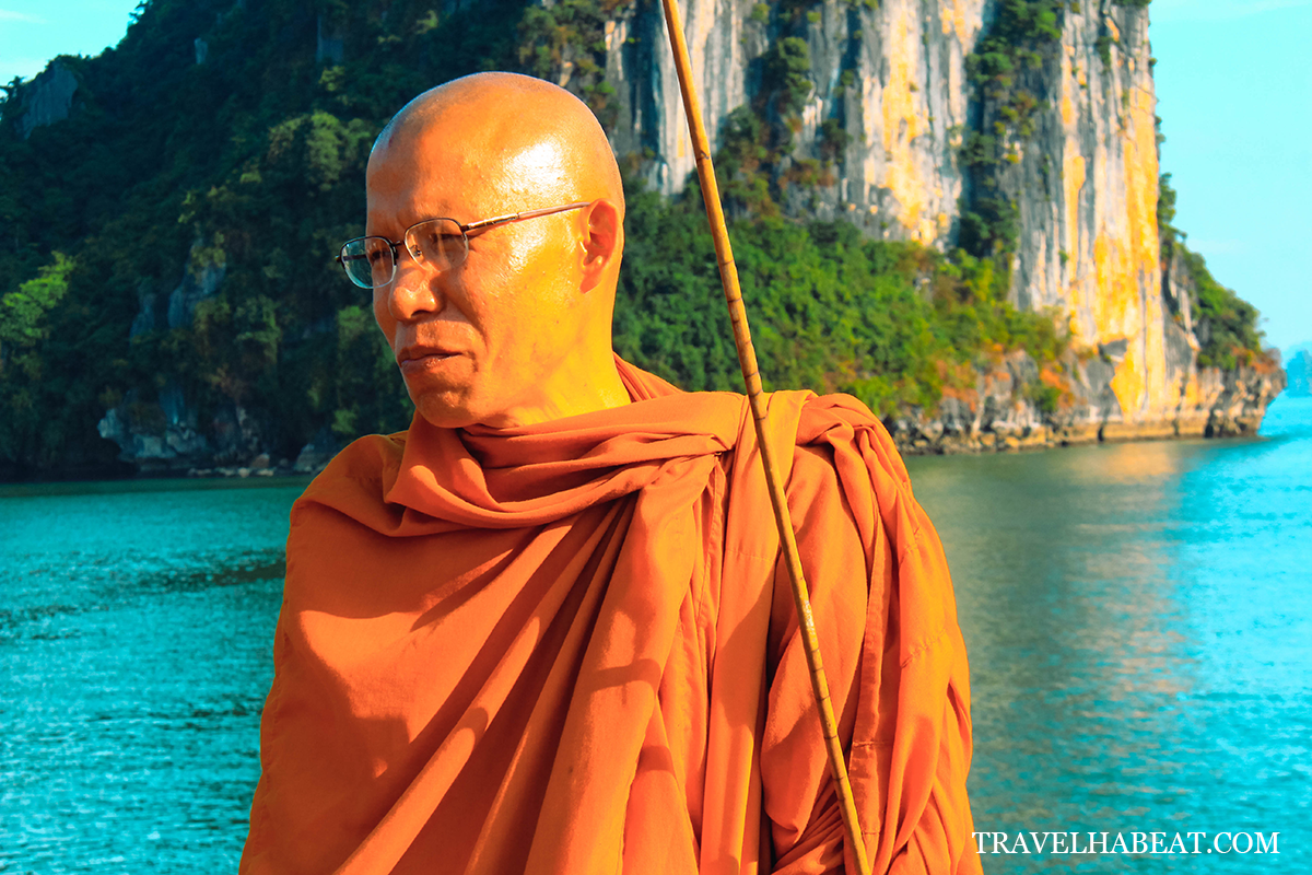 A monk spotted during the cruise.